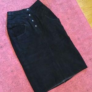 {vintage} leather skirt